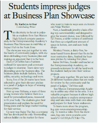 2017: Published in the July issue of  Santa Barbara Family & Life Magazine . Wrote about the San Marcos High SchoolEntrepreneurship Academy Business Plan Showcase.   Read More