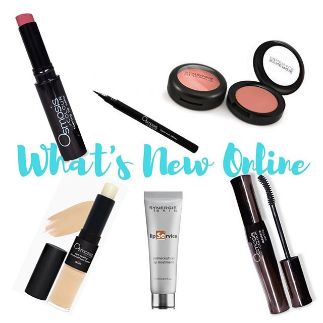 New Products Online from #synergie minerals and #osmosis Check out our website www.myrebeccac.com for our mineral make up sale!  #beauty #mineral makeup #skincare #vegan #sale