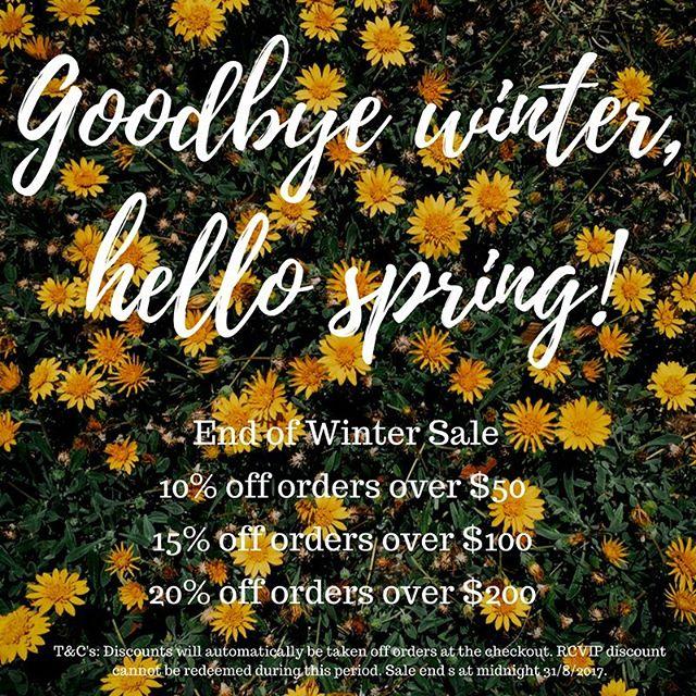 End of Winter Sale- Up to 20% off! Sale ends midnight Thursday 31st August #sale #skincare #mineralmakeup #naturalskincare #vegan #beauty #wellness #uspaskincare #osmosisskincare #synergieskin