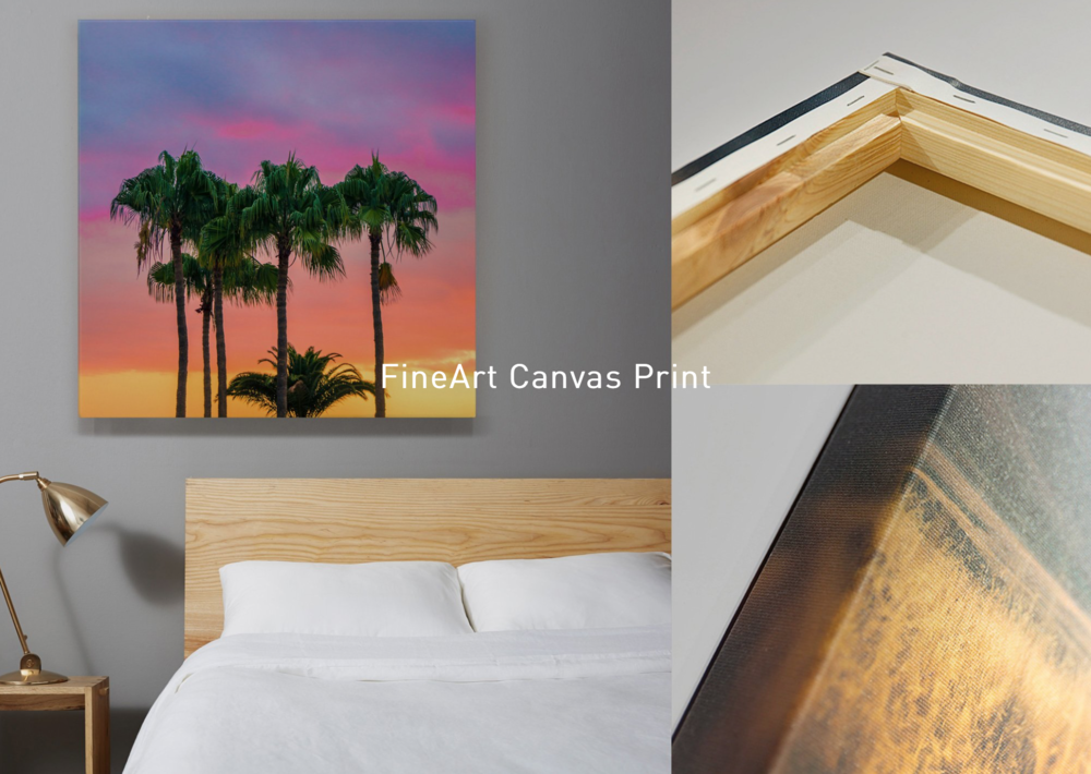 Together with an extra optic clear protective coating, your canvas is UV, water and scratch resistant, colors will easily remain vivid for more than 70 years. It will be stretched firmly around solid wood frame, you will be able to display it immediately when it arrives!