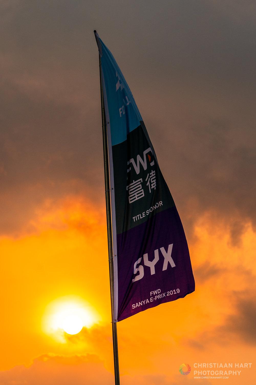 Sunrise over Sanya's first Formula E street race.