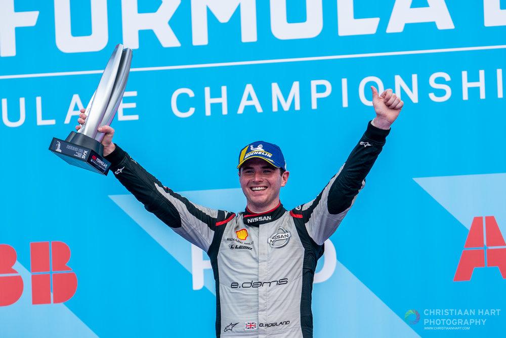 Nissan e.dams scores first Formula E podium