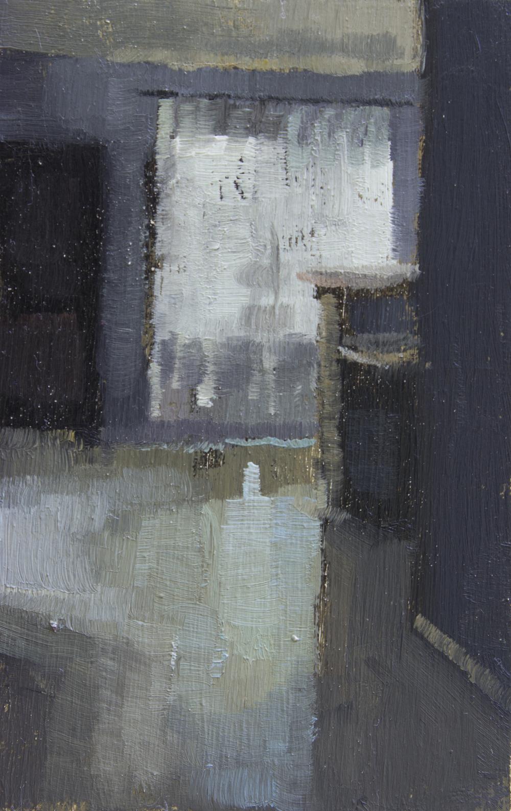 """TS 369, oil on panel, 3.25"""" x 2"""", 2015"""