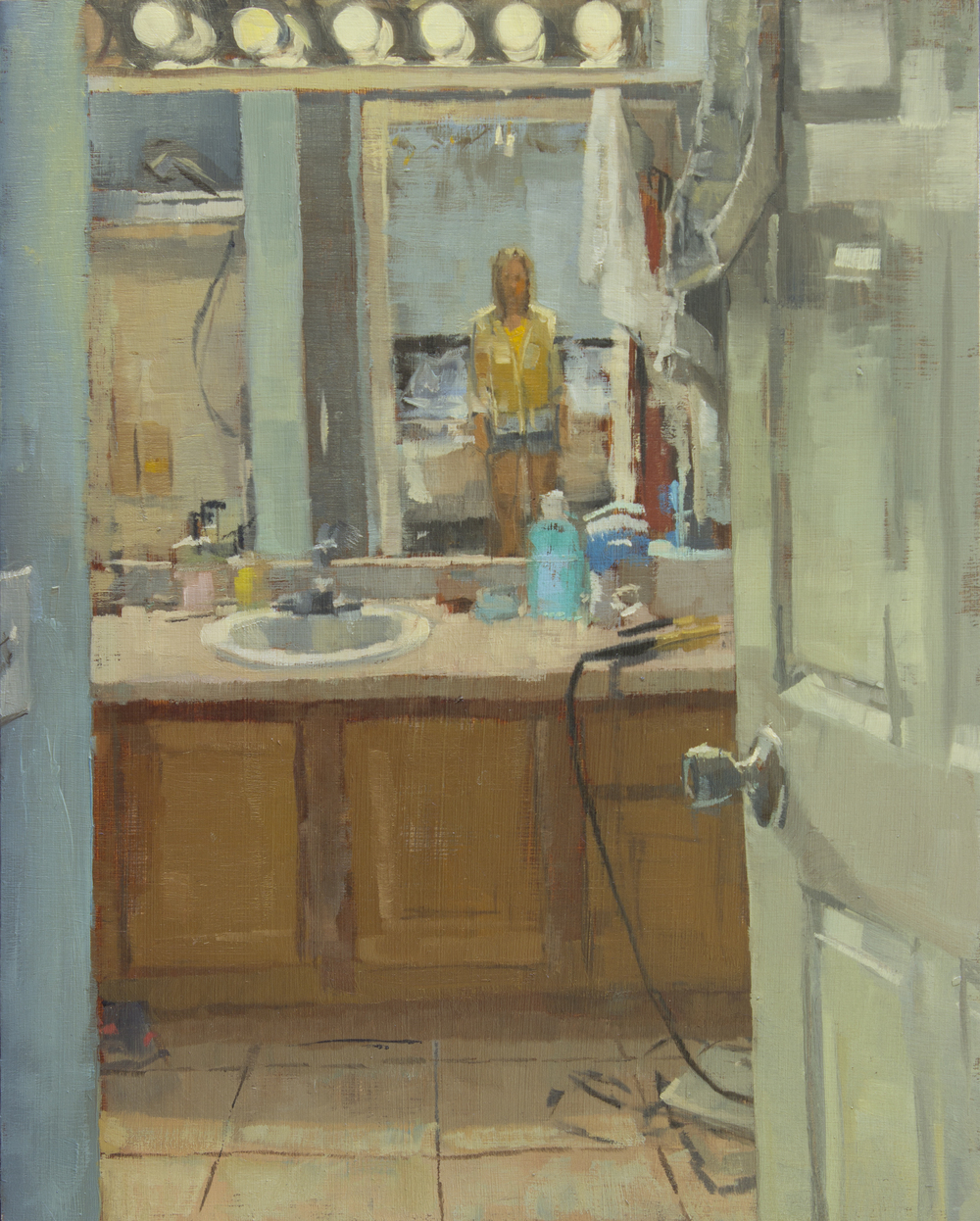 "Draw the Bath, oil on wood panel, 10"" x 8"", 2015, Private Collection"