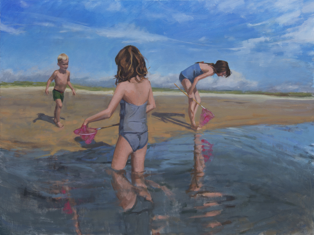 "Sun Pours Through, oil on canvas, 30"" x 40"", 2014"