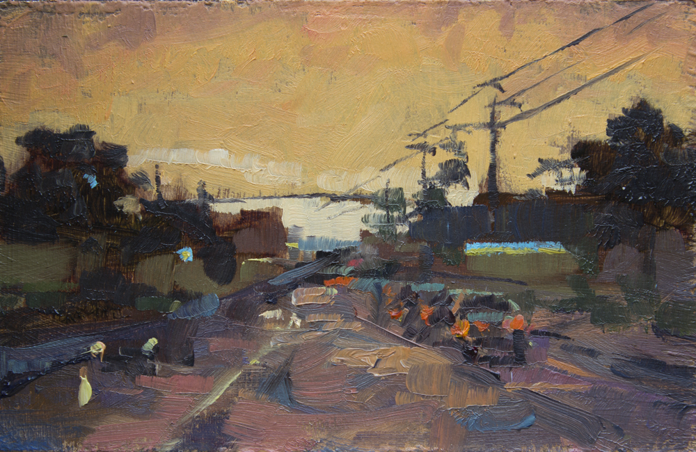 """TS 349, oil on panel, 2"""" x 3.25"""", 2014, Sold"""