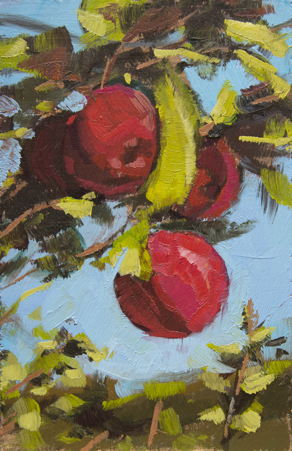 """TS 342, oil on panel, 3.25"""" x 2"""", 2014, Sold"""