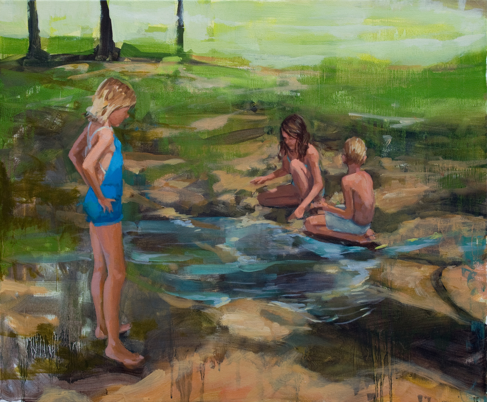 "Hose Water Rivers, oil on canvas, 20"" x 24"", 2013, Private Collection"