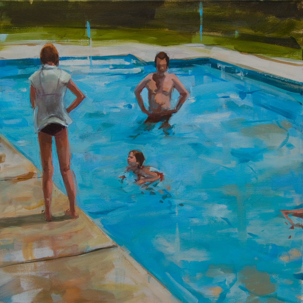 "The Deep End, oil on canvas, 24"" x 24"", 2013, Private Collection"