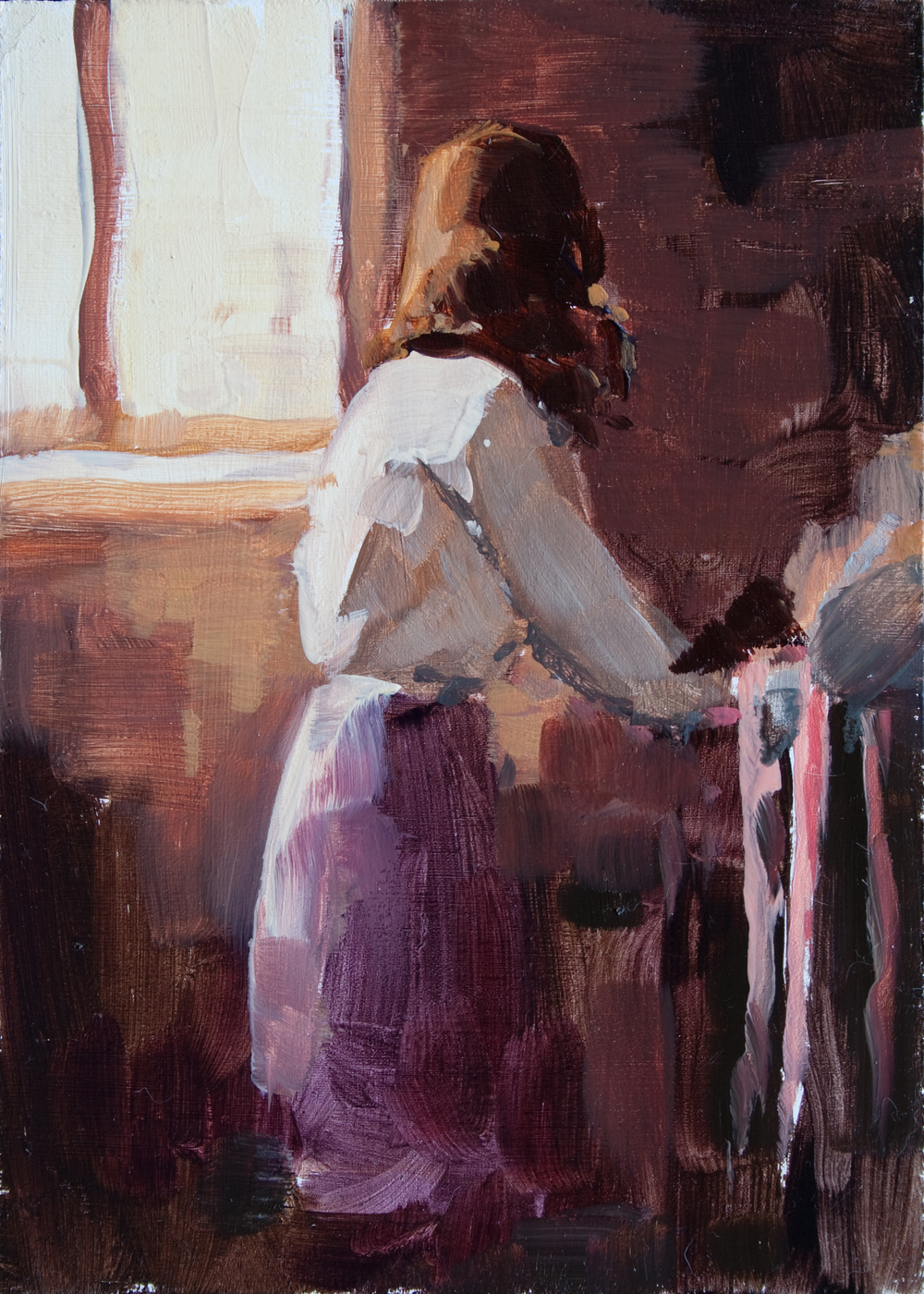 "Prep Work oil on panel, 7"" x 5"", 2012"
