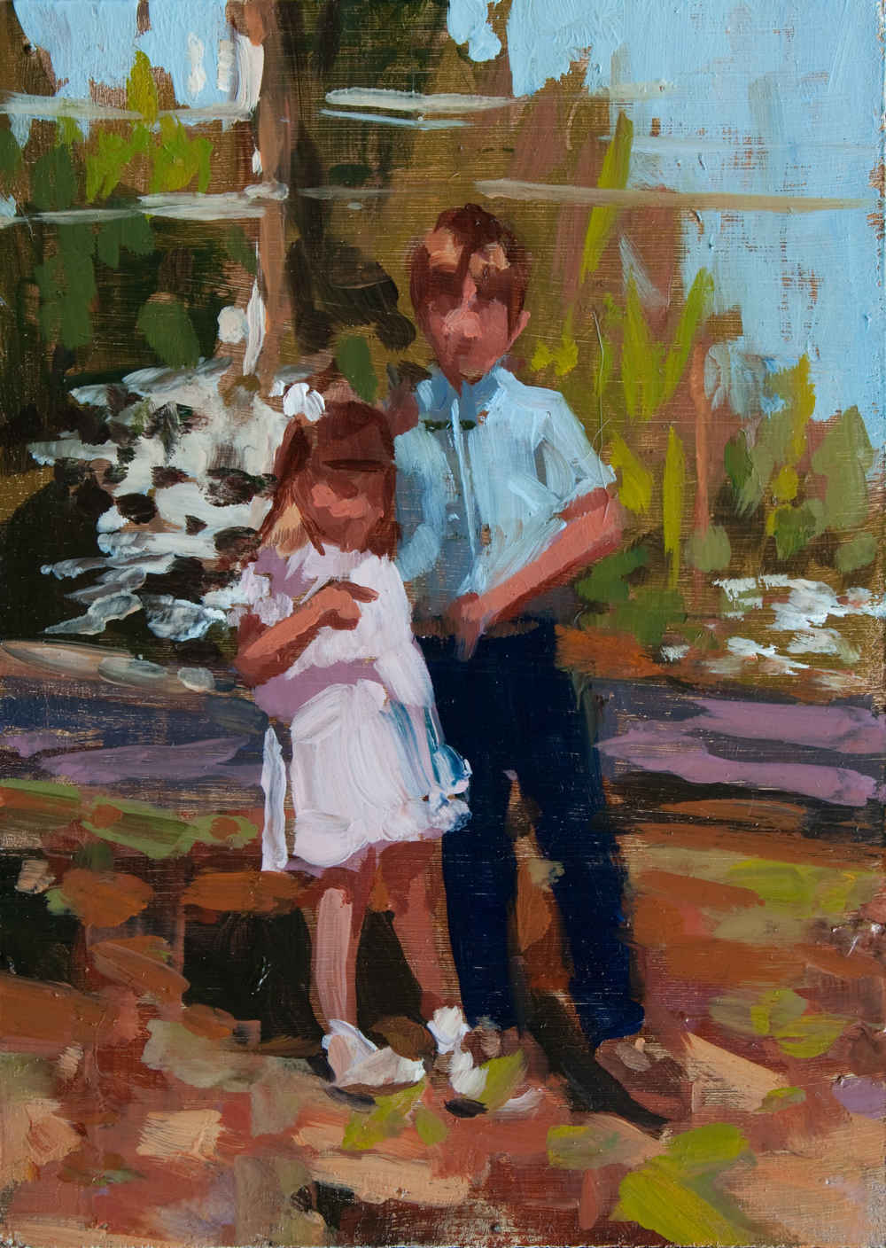 "Easter, oil on panel, 7"" x 5"", 2012, Private Collection"