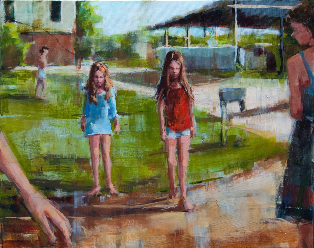 "Follow Me, oil on canvas, 16"" x 20"", 2012, Private Collection"