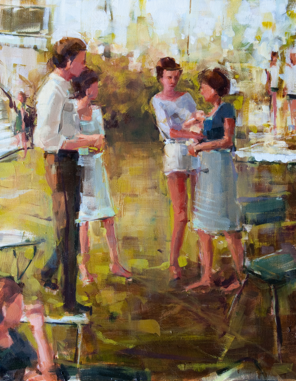 "Garden Party, oil on canvas, 16"" x 20"", 2012, Private Collection"