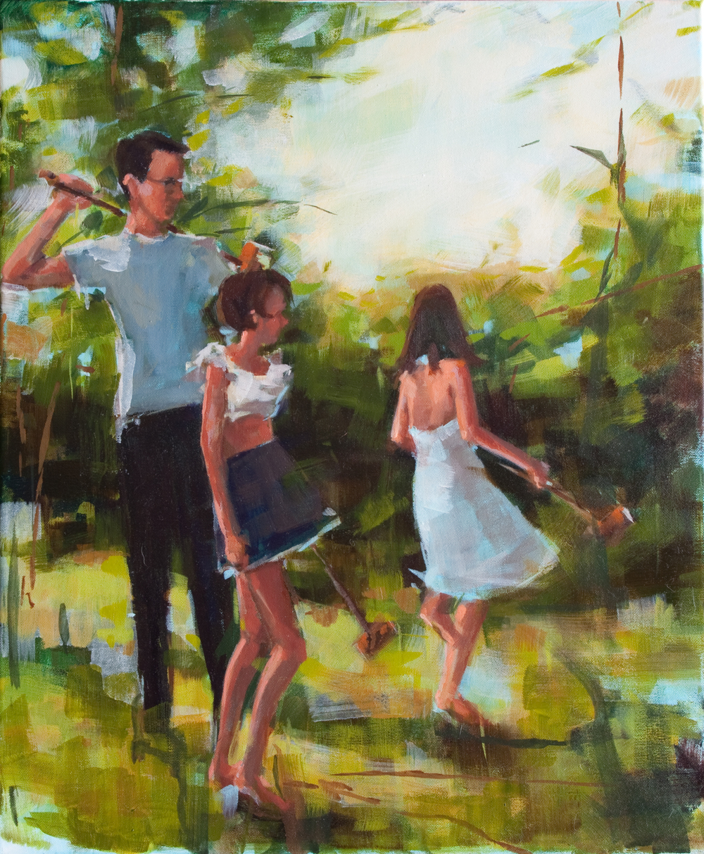 "Croquet, oil on canvas, 24"" x 20"", 2012"