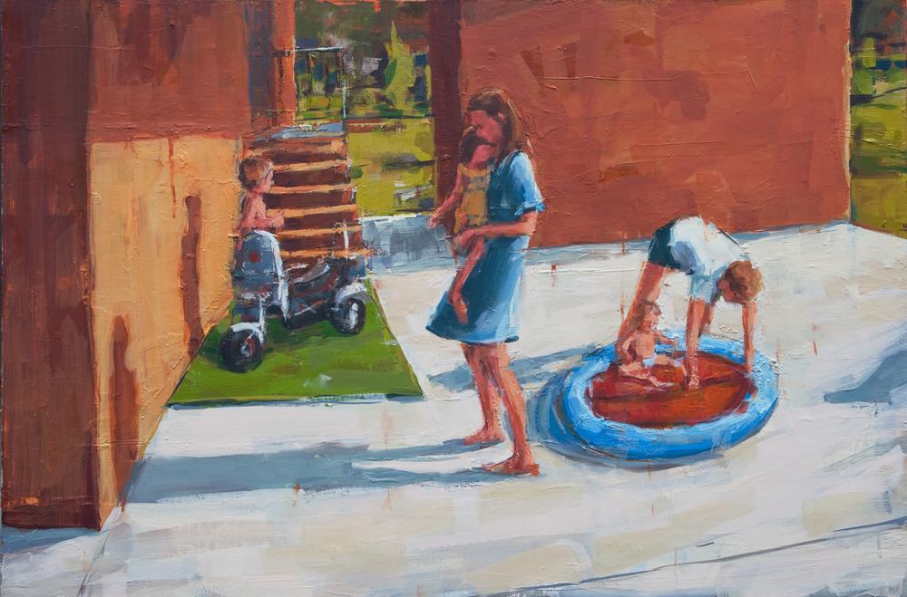 "Carport, oil on canvas, 24"" x 36"", 2011"