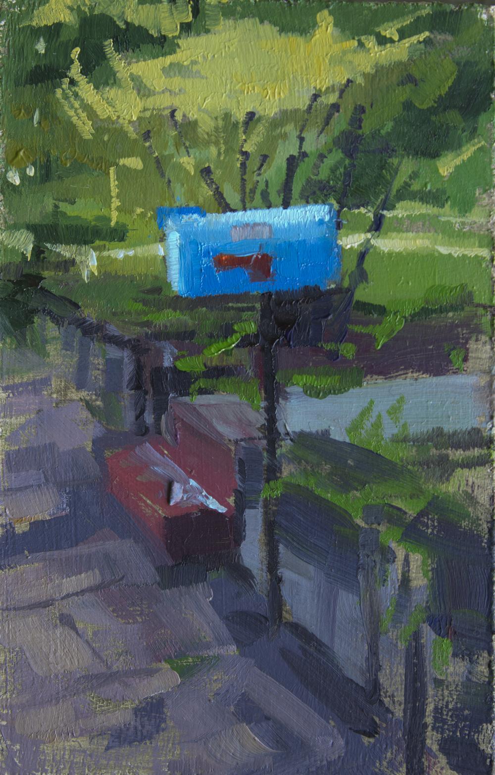 """TS 303, oil on panel, 3.25"""" x 2"""", 2014"""