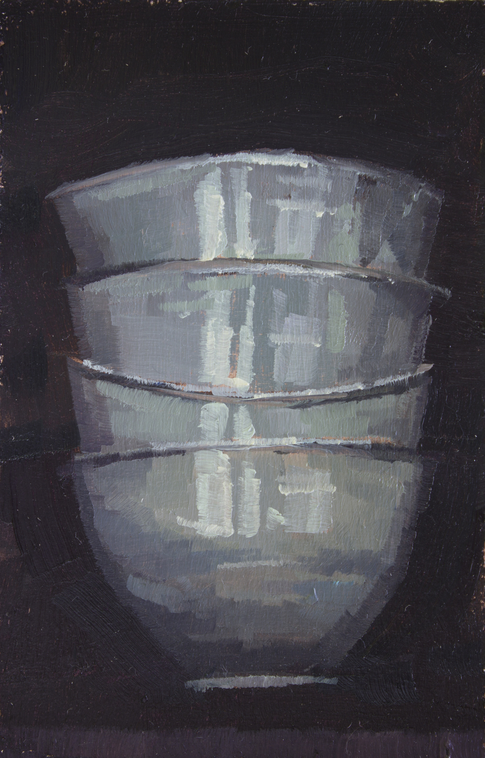 """TS 307, oil on panel, 3.25"""" x 2"""", 2014, Sold"""