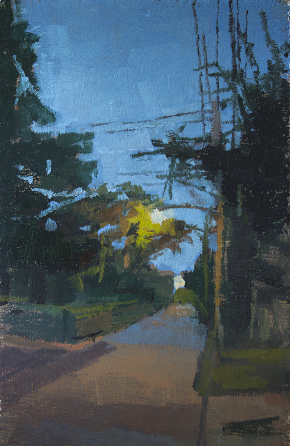 """TS 316, oil on panel, 3.25"""" x 2"""", 2014, Sold"""