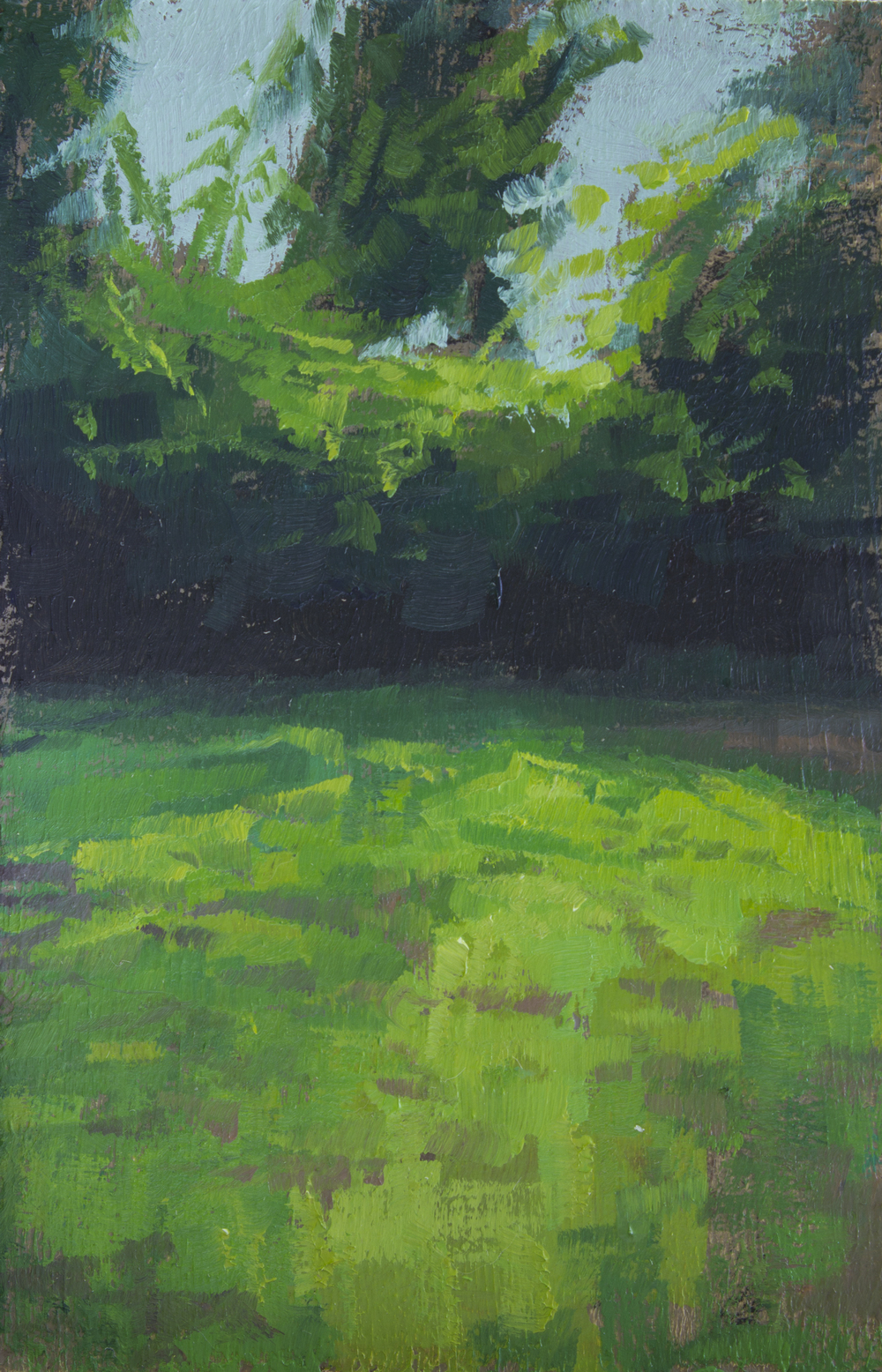 """TS 320, oil on panel, 3.25"""" x 2"""", 2014, Sold"""