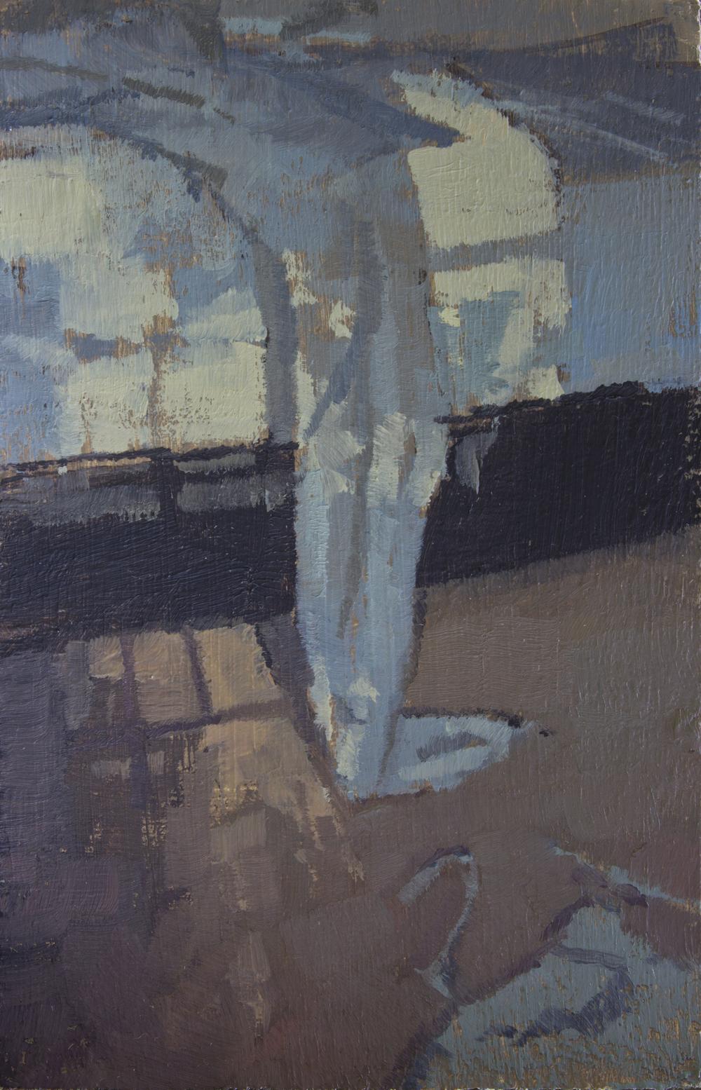 """TS 321, oil on panel, 3.25"""" x 2"""", 2014"""