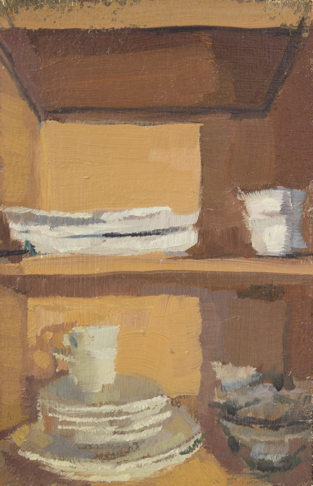 """TS 328, oil on panel, 3.25"""" x 2"""", 2014, Sold"""