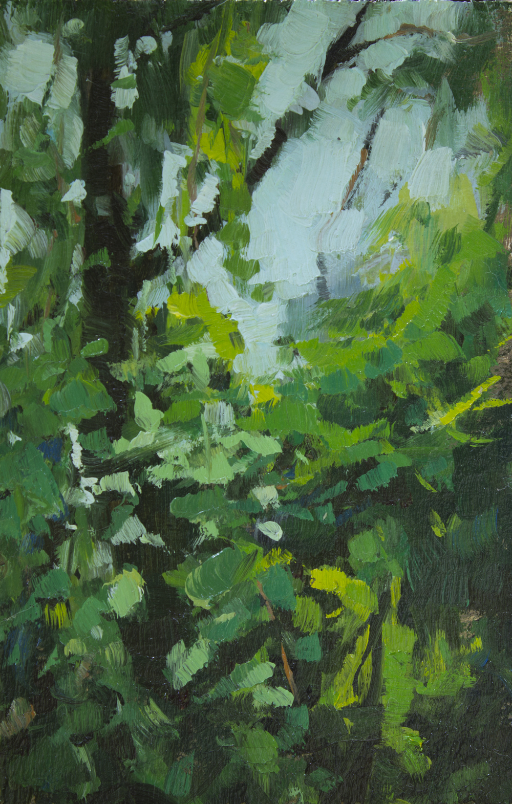 """TS 330, oil on panel, 3.25"""" x 2"""", 2014, Sold"""