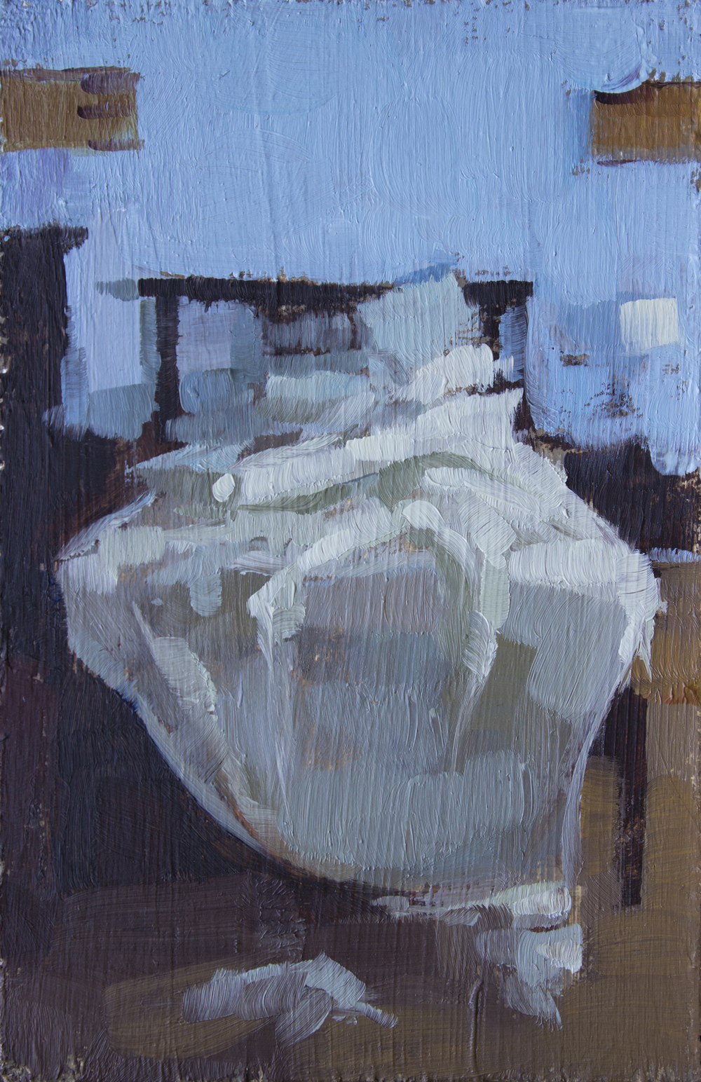 """TS 336, oil on panel, 3.25"""" x 2"""", 2014, Sold"""