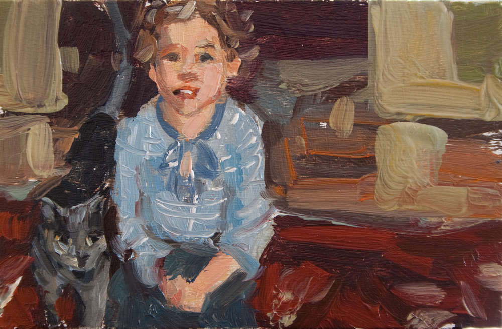 "TS 254, oil on panel, 2"" x 3.25"", 2012, Sold"