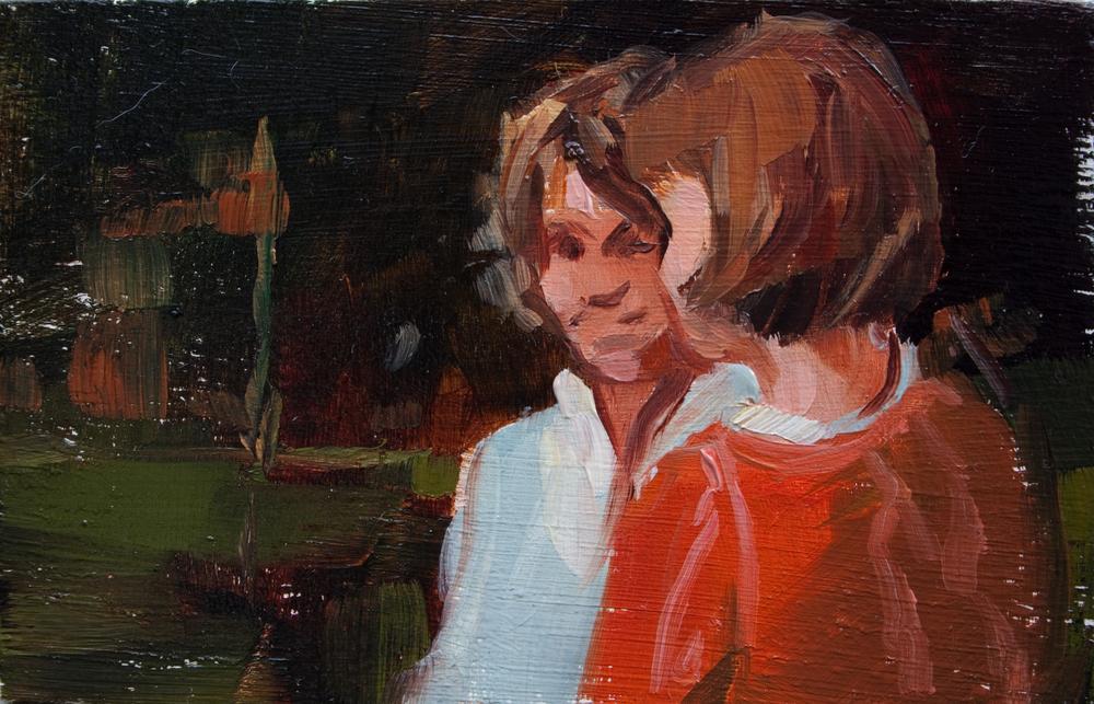 """TS 207, oil on panel, 2"""" x 3.25"""", 2012"""