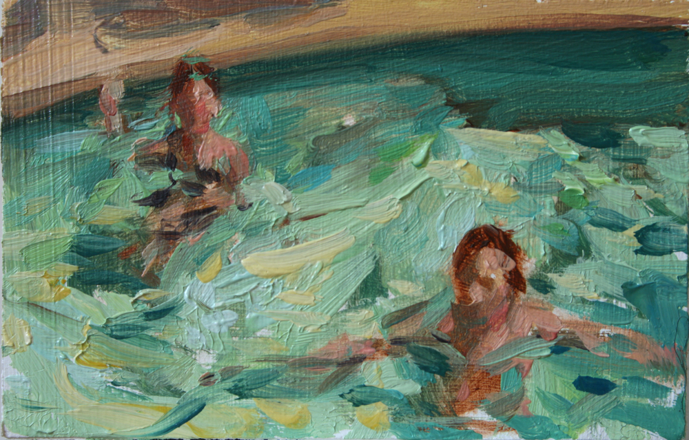 "TS 148, oil on panel, 2"" x 3.25"", 2011"