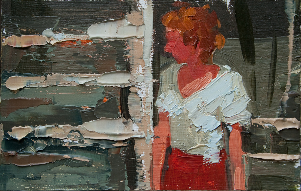 "TS 122, oil on panel, 2"" x 3.25"", 2011"
