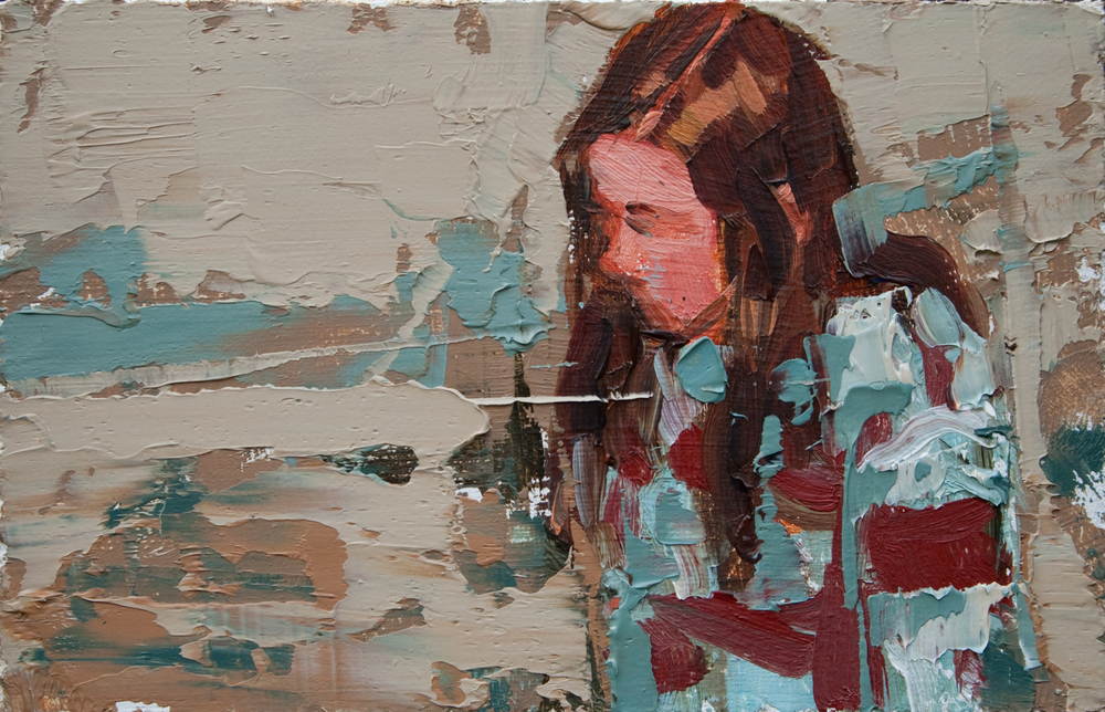 "TS 119, oil on panel, 2"" x 3.25"", 2011"