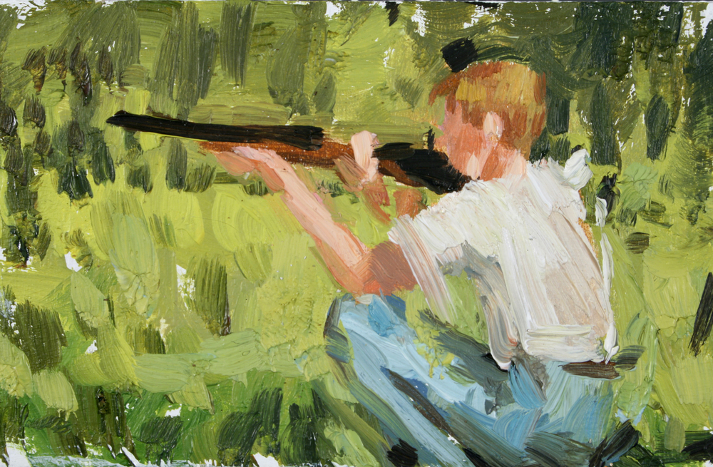 "TS 98, oil on panel, 2"" x 3.25"", 2011"
