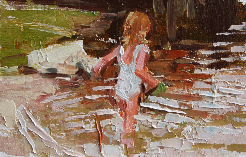 "TS 76, oil on panel, 2"" x 3.25"", 2011"