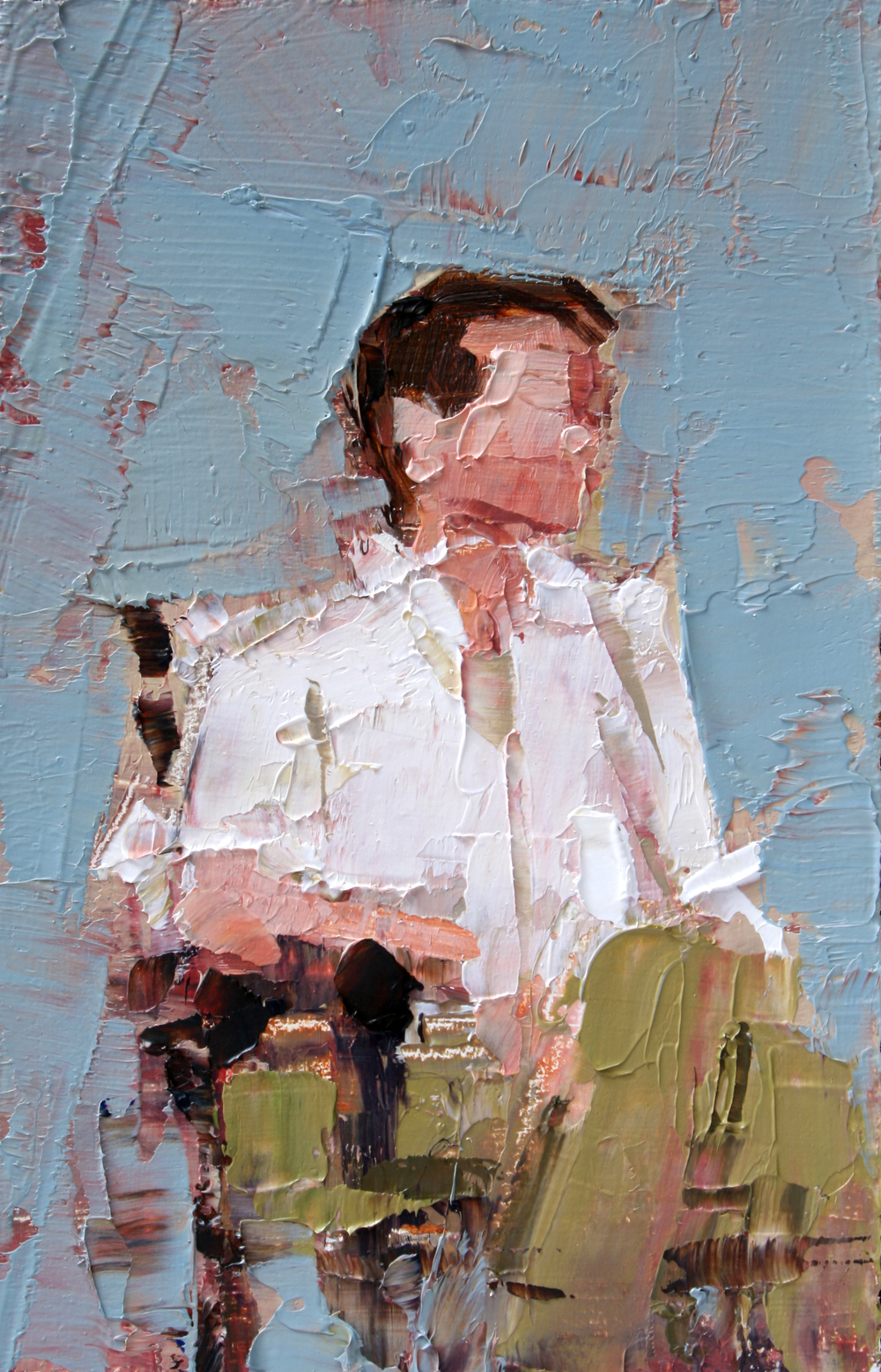 "TS 54, oil on panel, 3.25"" x 2"", 2011"