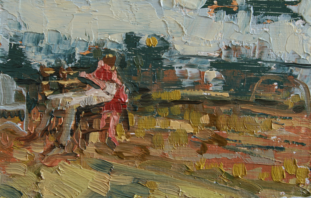 "TS 28, oil on panel, 2"" x 3.25"", 2011"