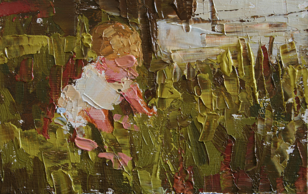 "TS 27, oil on panel, 2"" x 3.25"", 2011"