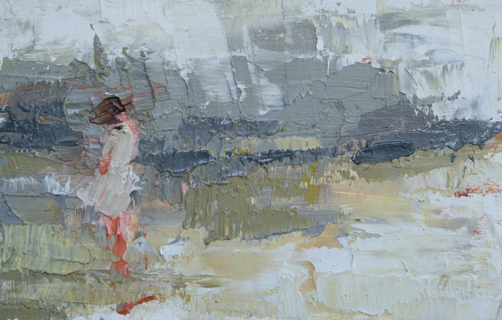 "TS 15, oil on panel, 2"" x 3.25"", 2011"