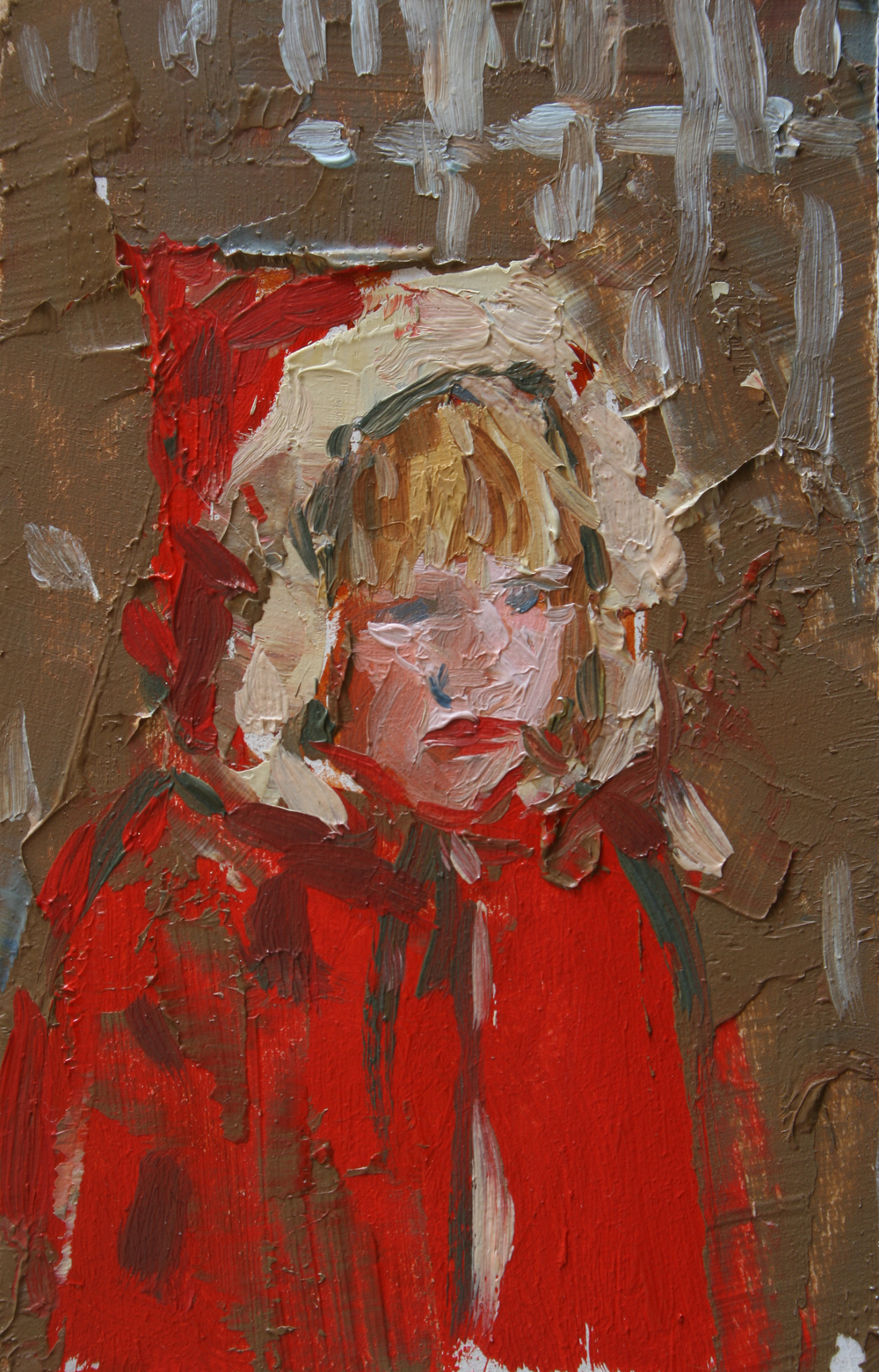 "TS 42, oil on panel, 3.25"" x 2"", 2011"