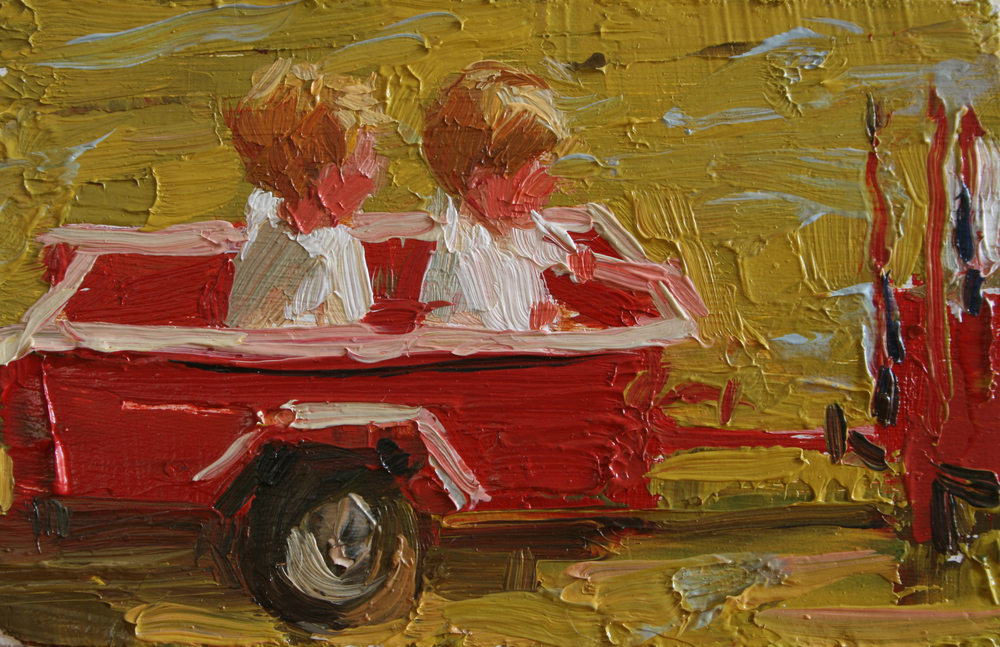 "TS 22, oil on panel, 2"" x 3.25"", 2011"