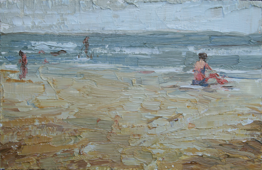 "TS 12, oil on panel, 2"" x 3.25"", 2011"