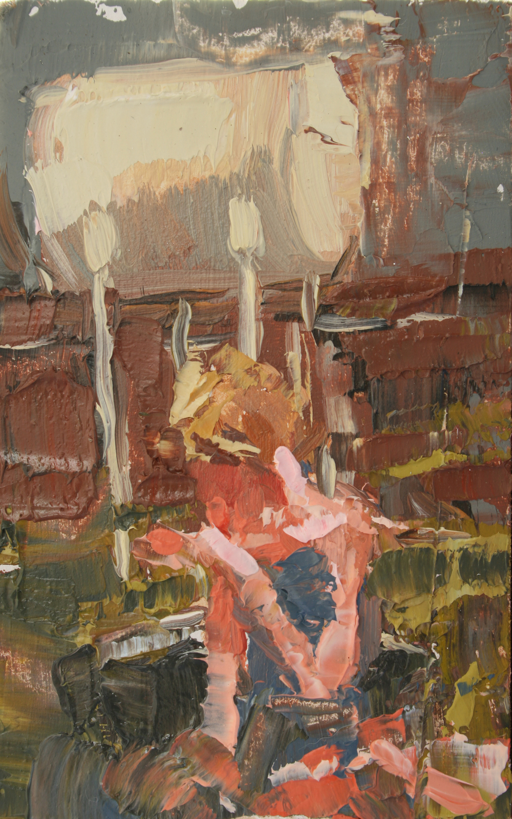 "TS 11, oil on panel, 3.25"" x 2"", 2011"