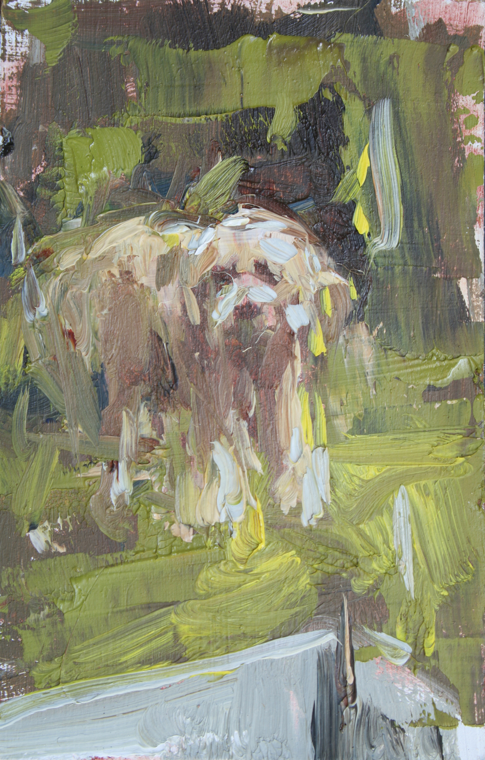 "TS 10, oil on panel, 3.25"" x 2"", 2011"