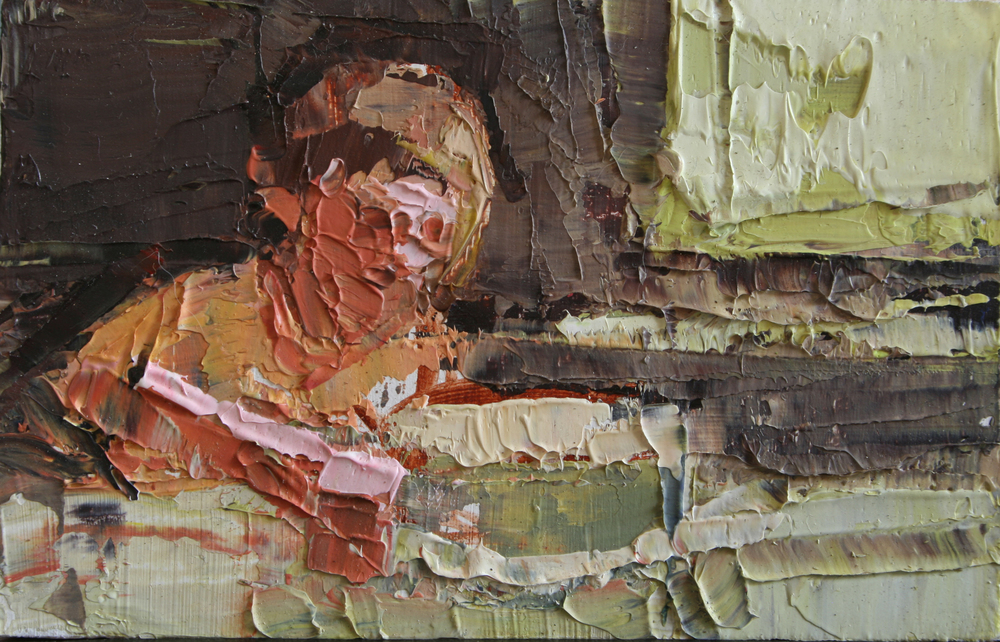 "TS 9, oil on panel, 2"" x 3.25"", 2010"