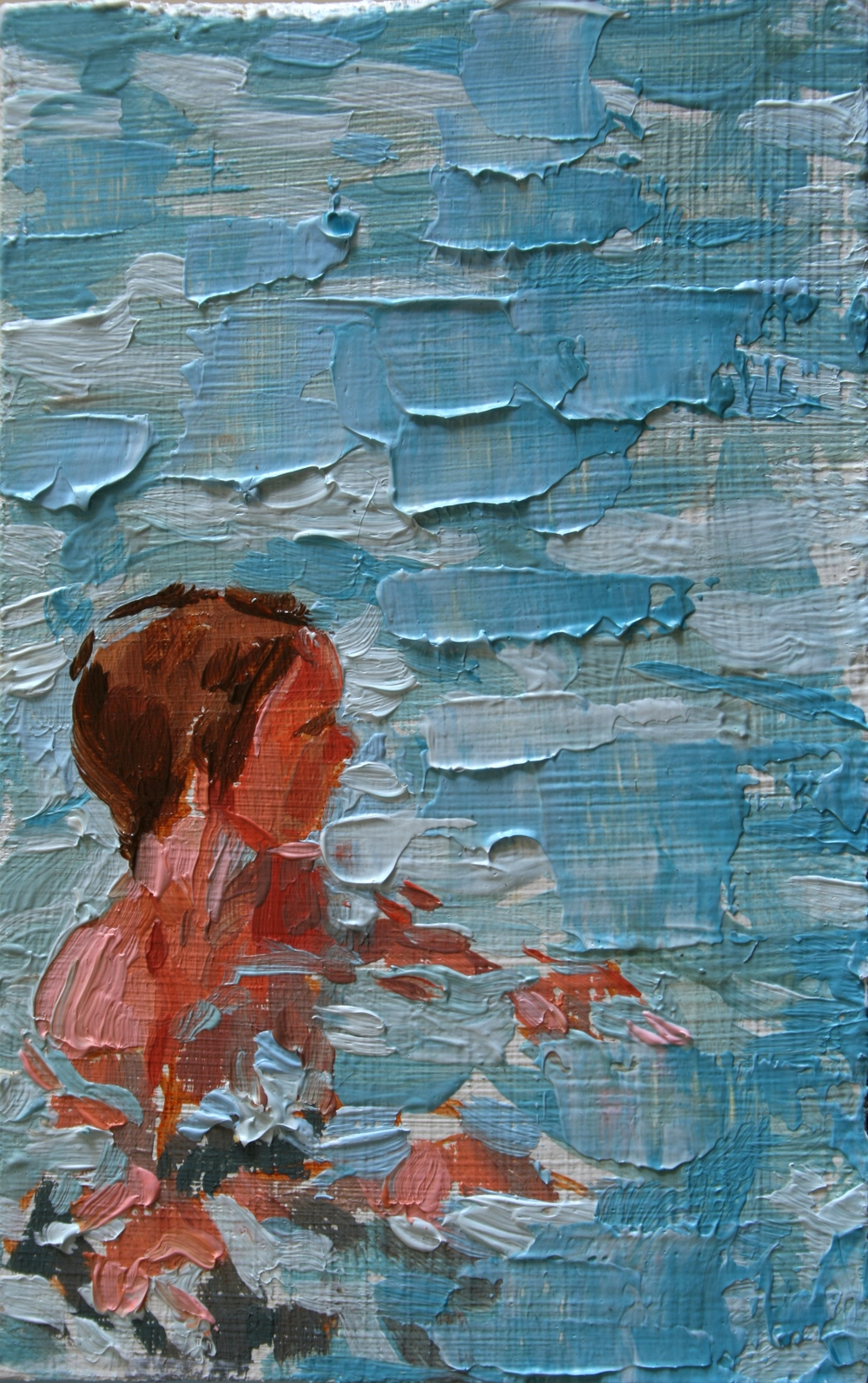 "TS 37, oil on panel, 3.25"" x 2"", 2011"