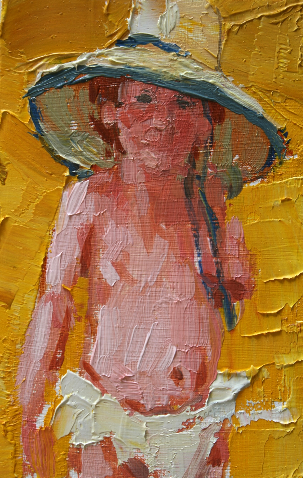 "TS 29, oil on panel, 3.25"" x 2"", 2011"