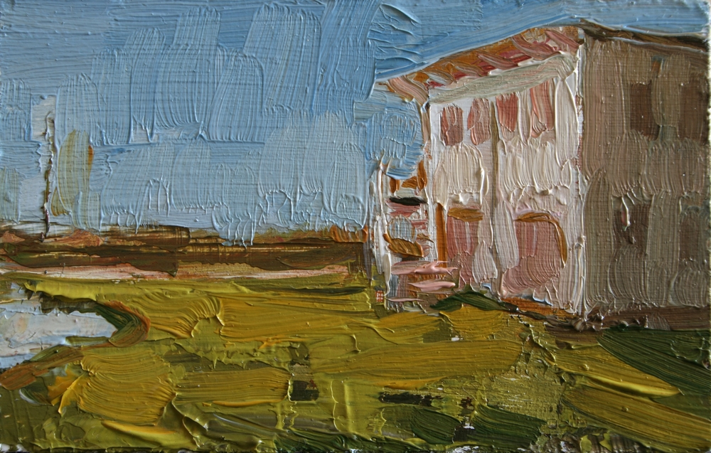 "TS 23, oil on panel, 2"" x 3.25"", 2011"