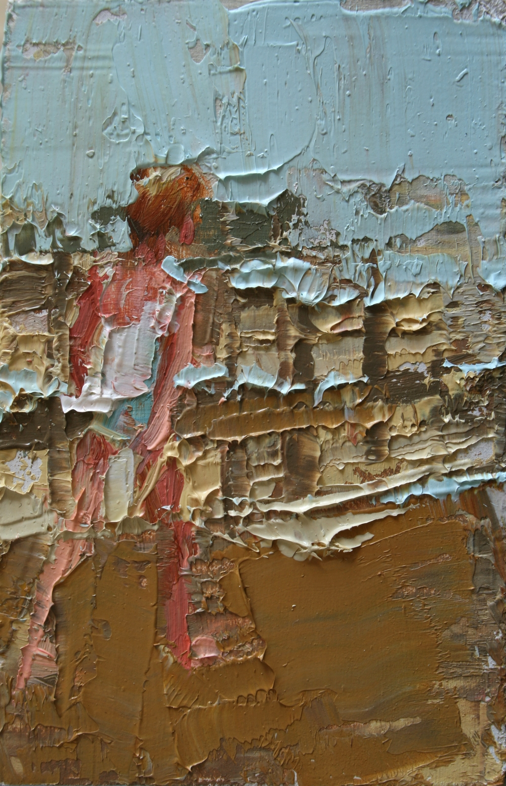 "TS 21, oil on panel, 3.25"" x 2"", 2011"