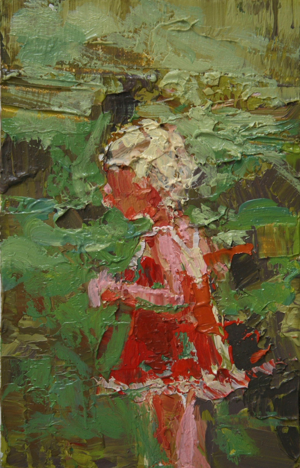 "TS 7, oil on panel, 3.25"" x 2"", 2010"