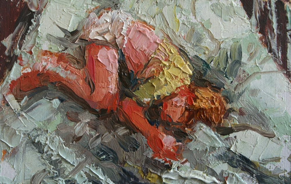 "TS 8, oil on panel, 2"" x 3.25"", 2010"